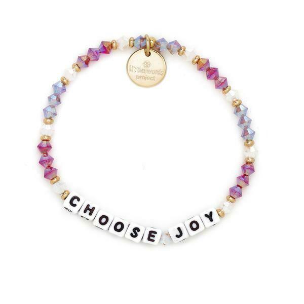 Little Words Project White CHOOSE JOY Bracelet