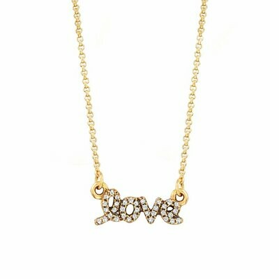 Luca + Danni Love Necklace in Pave Crystal