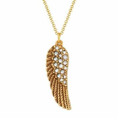 Luca + Danni Crystal Angel Wing Necklace