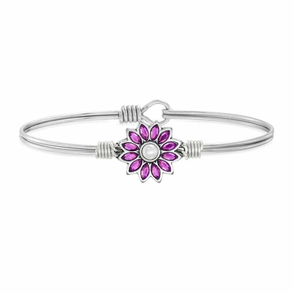 Luca + Danni Crystal Flower Bracelet in Amethyst
