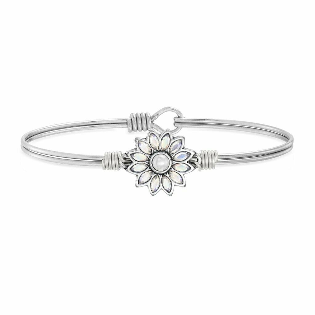 Luca + Danni Crystal Flower Bracelet in Aurora Borealis
