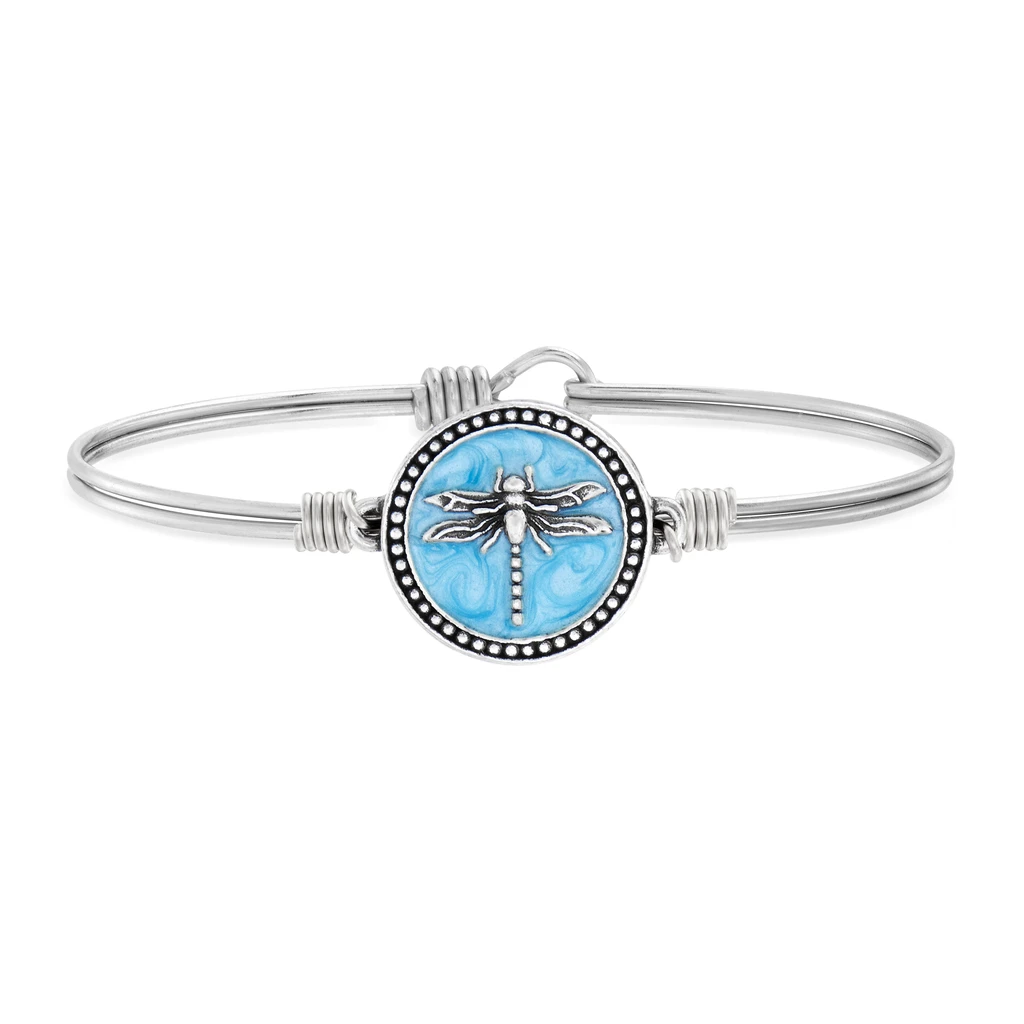 Luca + Danni Dragonfly Bracelet in Pearlized Blue