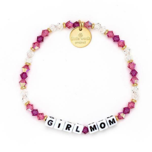 Little Words Project White GIRL MOM Bracelet