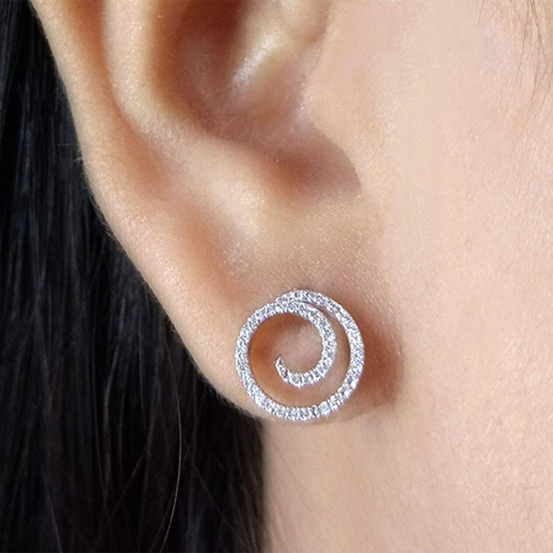 Ella Stein Swirl Girl Earrings (Silver)