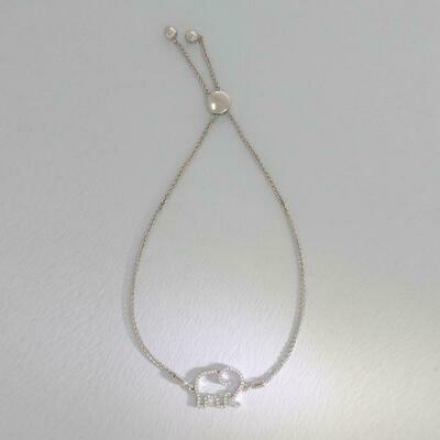 Ella Stein Elephant Bracelet (Silver)