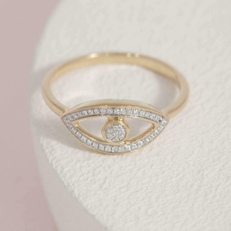 Ella Stein Eye on You Ring (Gold)