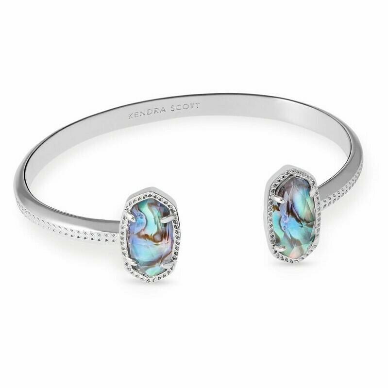 Kendra Scott Elton Silver Cuff Bracelet in Abalone Shell