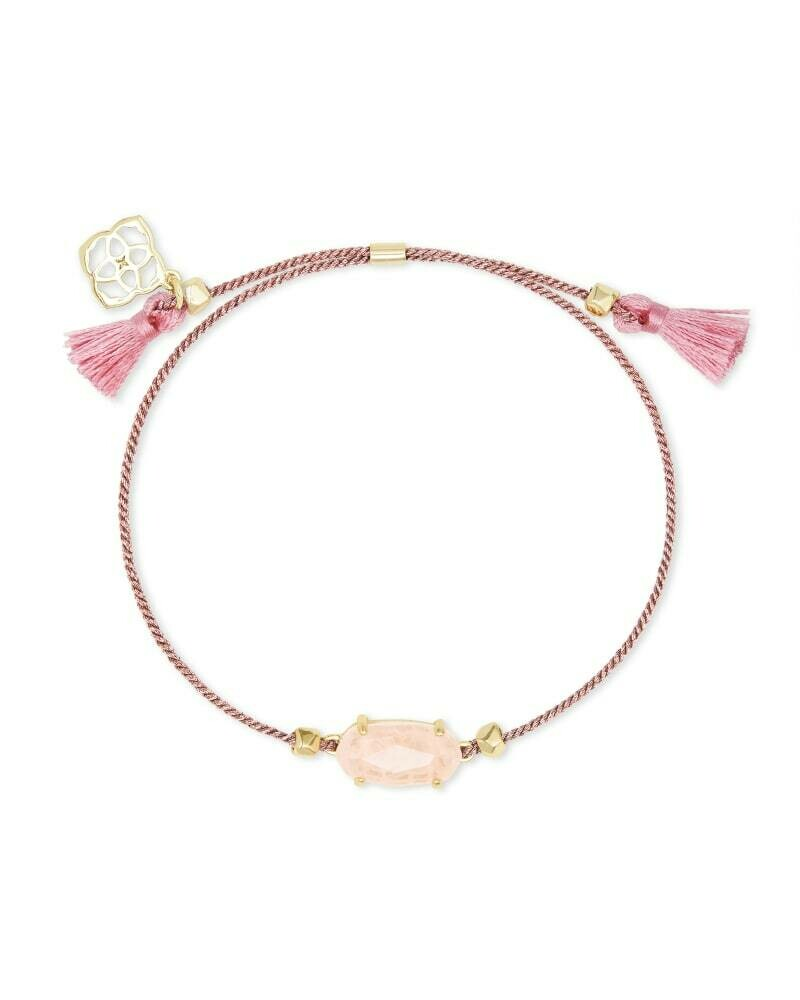 Kendra Scott Everlyne Pink Cord Friendship Bracelet in Rose Quartz