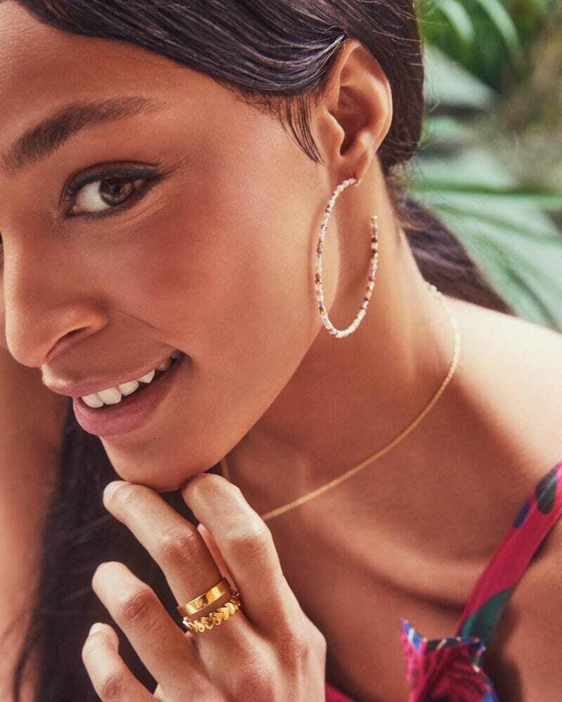 Kendra Scott Scarlet Gold Hoop Earrings in Pastel Mix