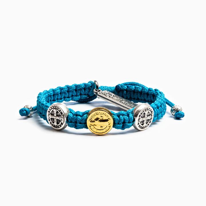 MSMH Blessing for Kids Benedictine Blessing Bracelet (Turquoise)