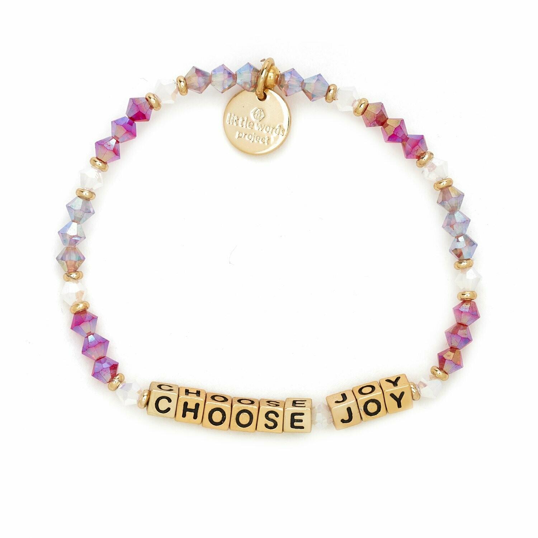 Little Words Project Gold CHOOSE JOY Bracelet