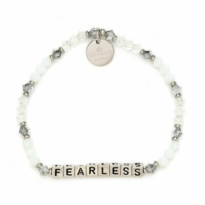 Little Words Project Silver FEARLESS Bracelet