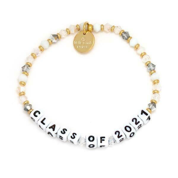 Little Words Project White CLASS OF 2021 Bracelet