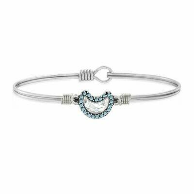 Luca + Danni Crystal Pave Crescent Moon Bracelet