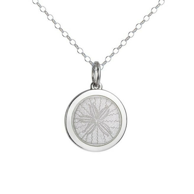 Colby Davis Sand Dollar Pendant, Medium/White