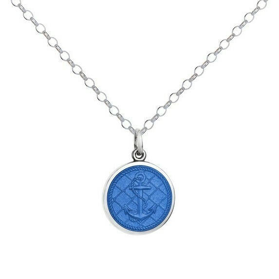 Colby Davis Anchor Pendant, Small/French Blue