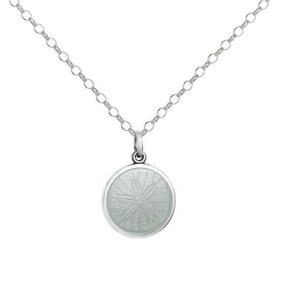 Colby Davis Sand Dollar Pendant, Small/White
