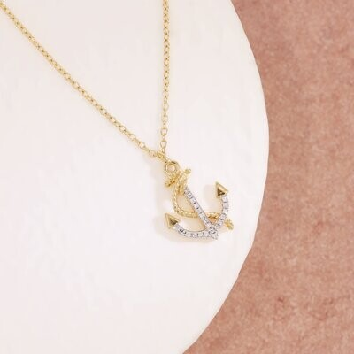Ella Stein Anchor the Day Necklace (Gold)