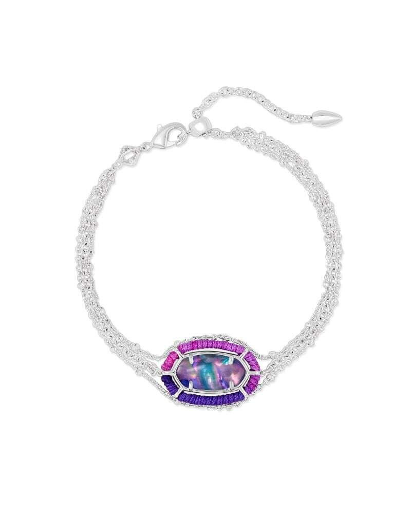 Kendra Scott Threaded Elaina Silver Multi Strand Bracelet in Lilac Abalone