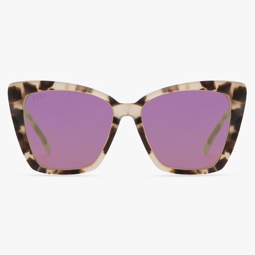 DIFF Becky IV - Cream Tortoise/Pink Mirror