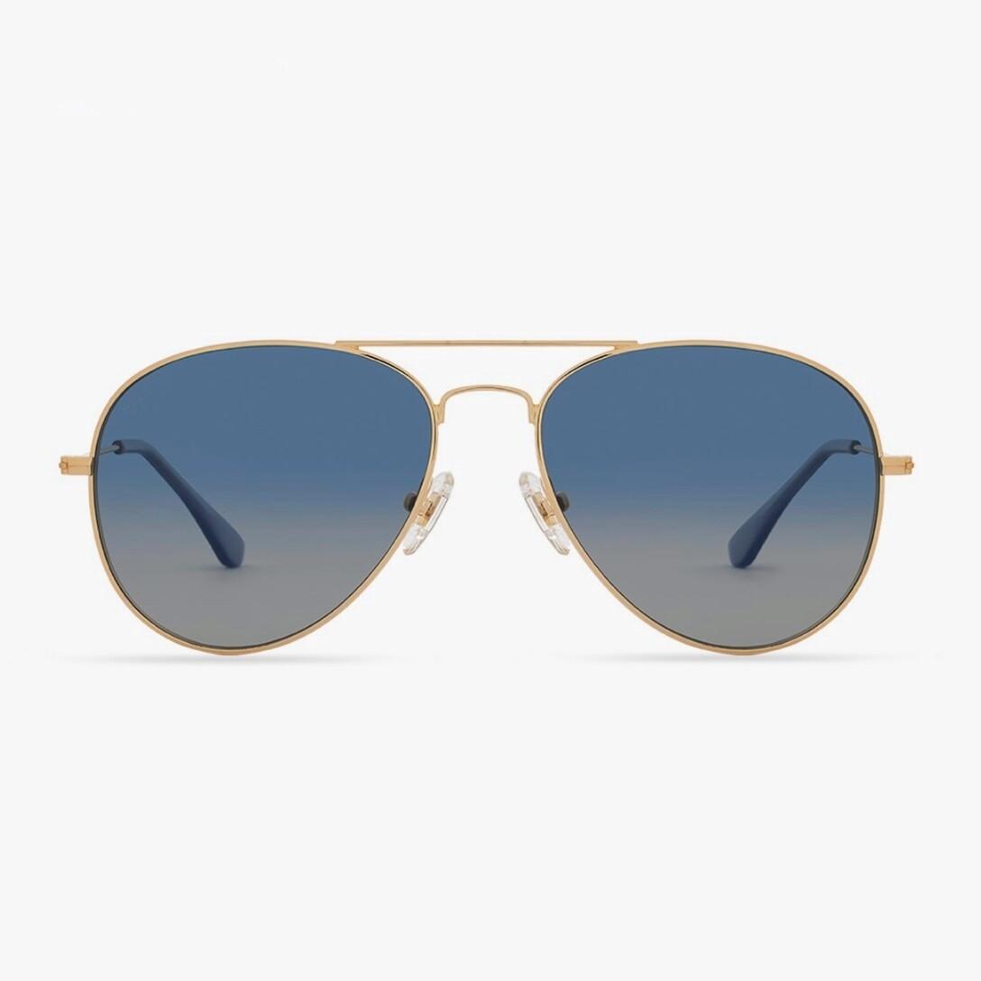 DIFF Cruz - Gold/Aegean Blue Gradient Flash Polarized