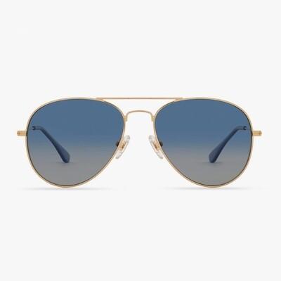 DIFF Cruz - Gold/Agean Blue Gradient Flash Polarized