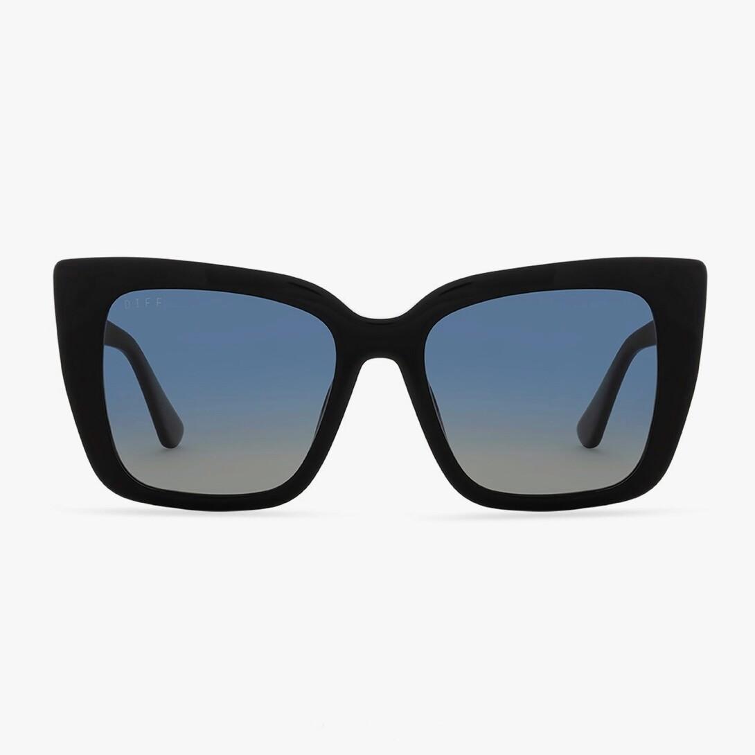 DIFF Lizzy - Black/Agean Blue Gradient Flash Polarized