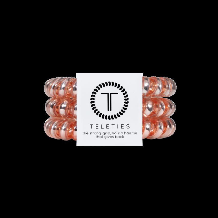 Teleties Large Hair Ties, Millennial Pink