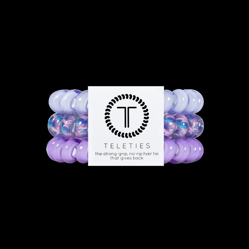Teleties Large Hair Ties, Purple Please
