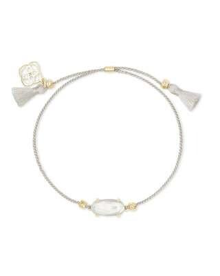 Kendra Scott Everlyne Silver Cord Friendship Bracelet in Ivory Mother-Of-Pearl
