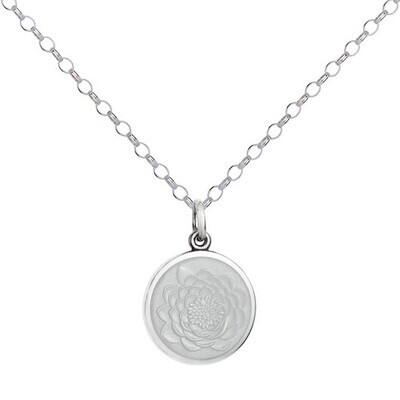 Colby Davis Lotus Pendant, Small/White
