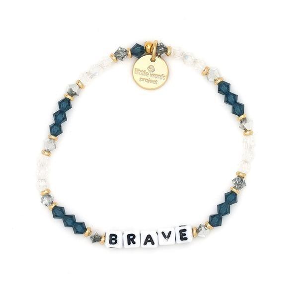 Little Words Project White BRAVE Bracelet