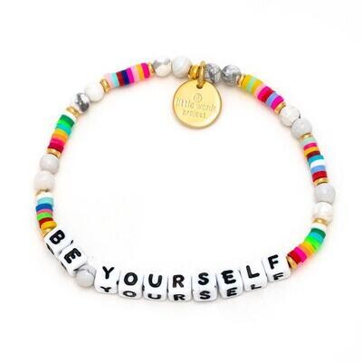 Little Words Project White BE YOURSELF Bracelet