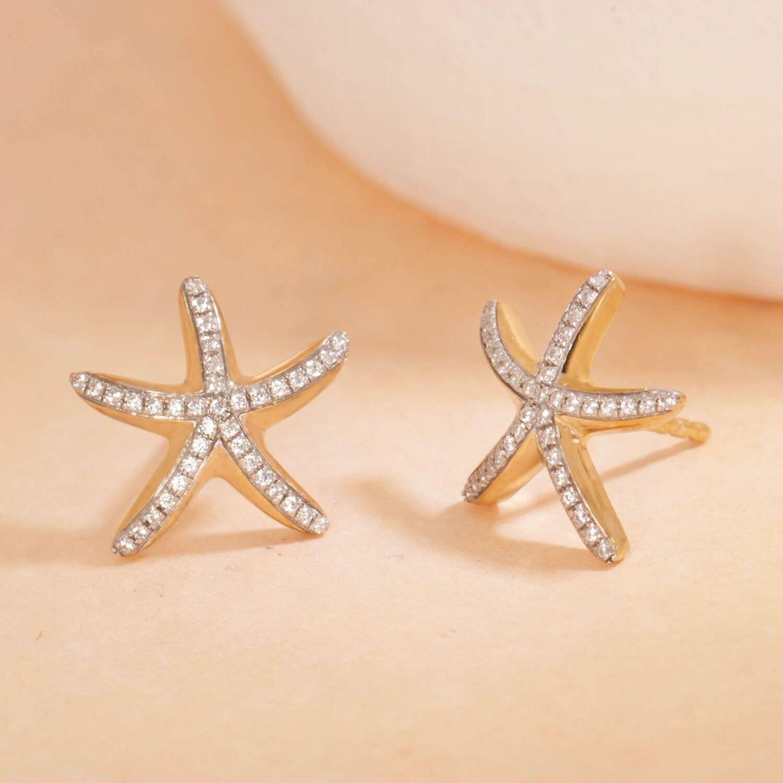 Ella Stein Sea Star Studs (Gold)