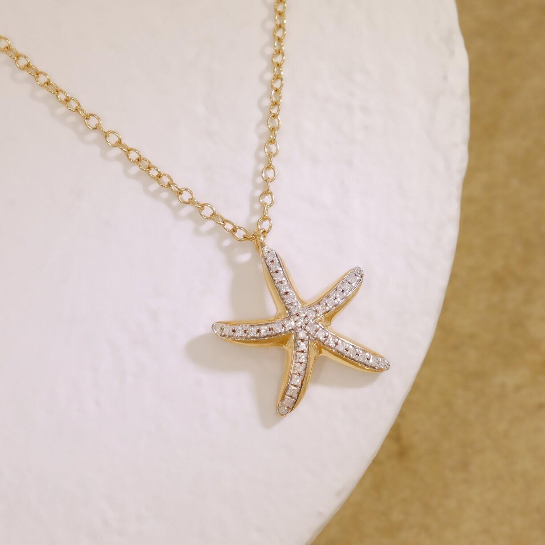 Ella Stein Sea Star Necklace (Gold)
