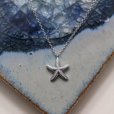 Ella Stein Sea Star Necklace (Silver)