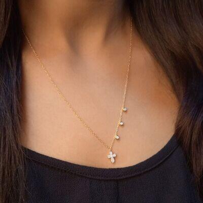 Ella Stein Cross Necklace (Gold)