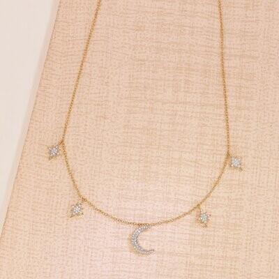 Ella Stein Starry Eyed Necklace (Gold)
