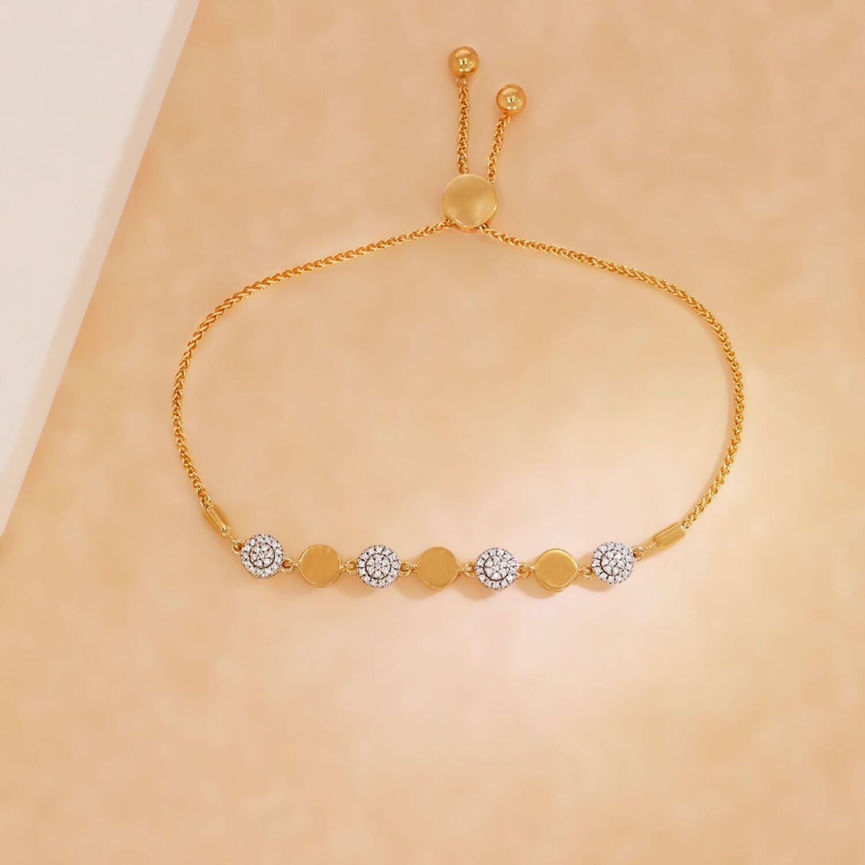 Ella Stein You Make Me Whole Bolo Bracelet (Gold)