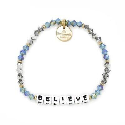 Little Words Project White BELIEVE Bracelet