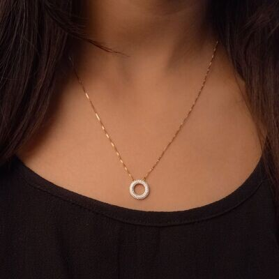 Ella Stein Open Disc Necklace (Gold)