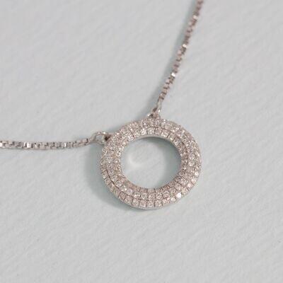 Ella Stein Open Disc Necklace (Silver)