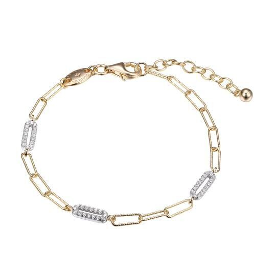 Charles Garnier Paperclip Collection Victoria Bracelet, Gold
