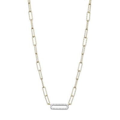 Charles Garnier Paperclip Collection Alexandra Necklace, Gold