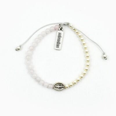 MSMH Mother Mary, Mother Me Blessing Bracelet (Rose Quartz)