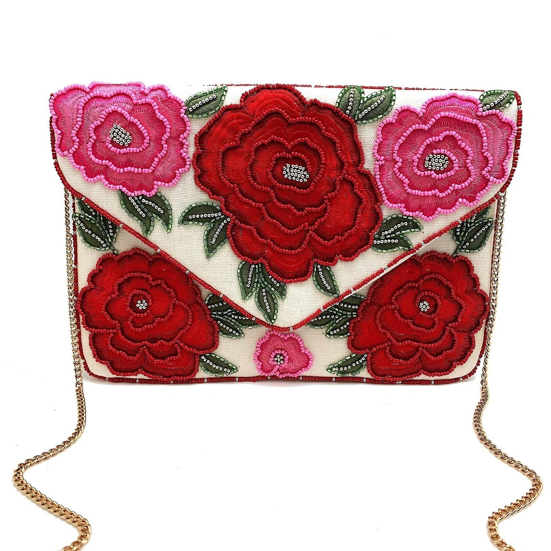 La Chic Rose Embroidered Bag