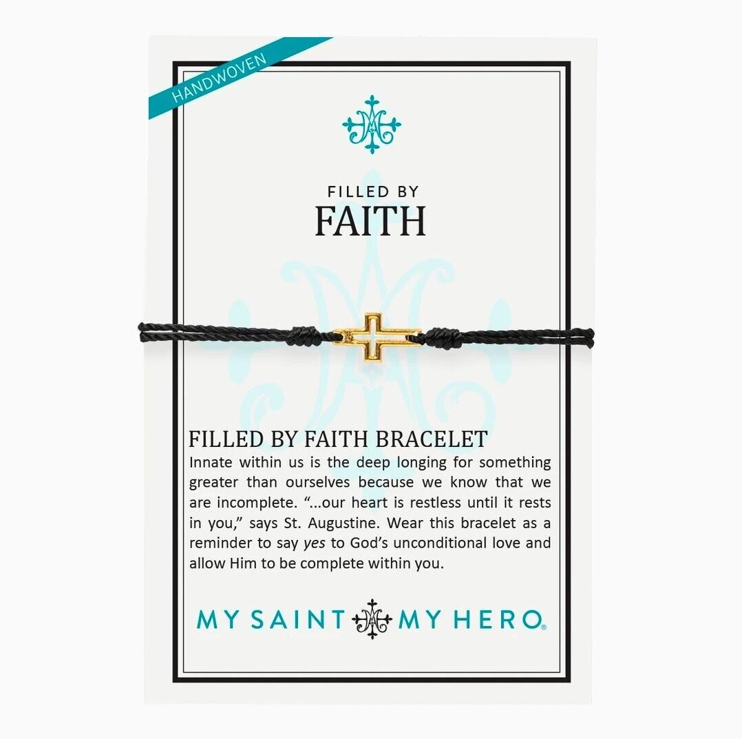 MSMH Filled By Faith Bracelet (Gold/Black)