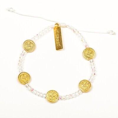 MSMH Gratitude Crystal Blessing Bracelet (Gold)