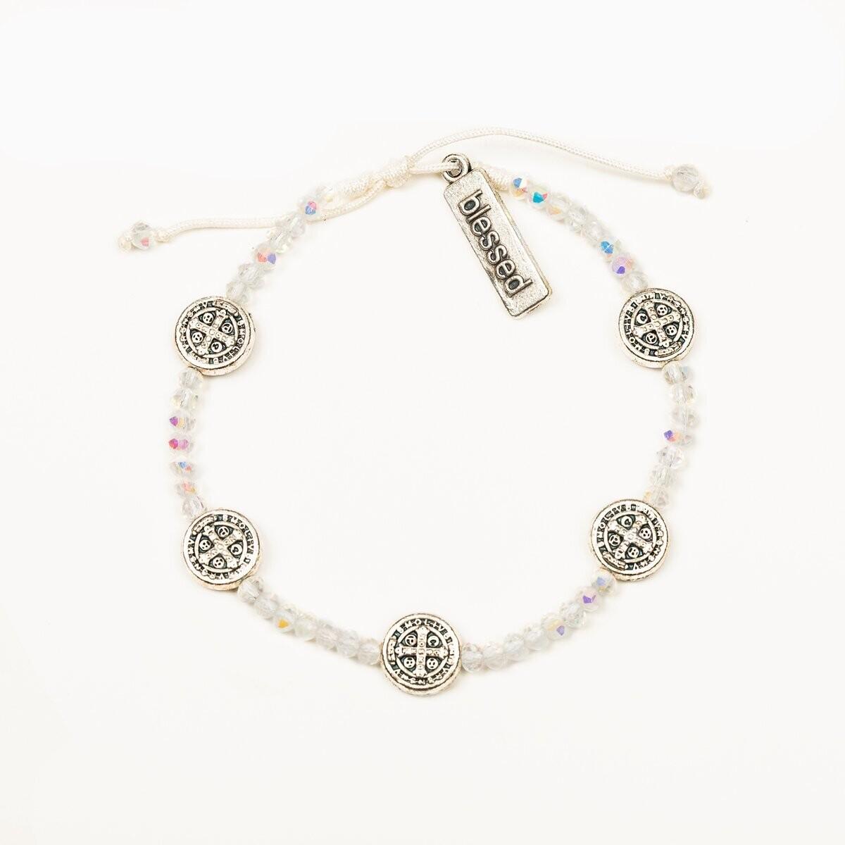 MSMH Gratitude Crystal Blessing Bracelet (Silver)