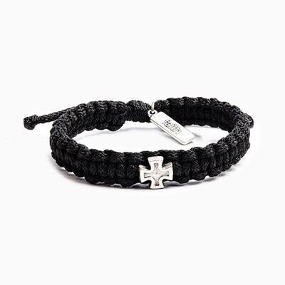 MSMH Strength Blessing Bracelet for Him (Silver/Black)